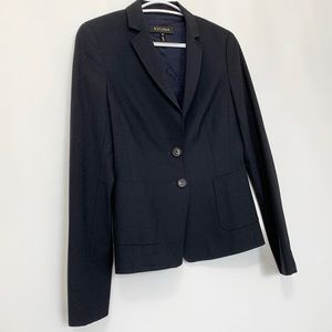 """ESCADA"" Business Smart Wool Blazer - Navy Blue"